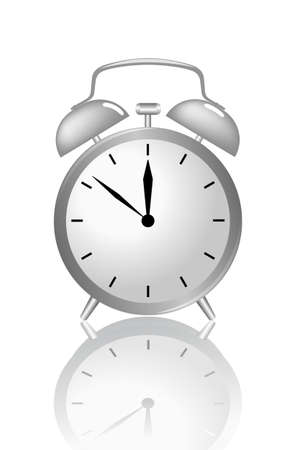 Retro style alarm clock. Vector