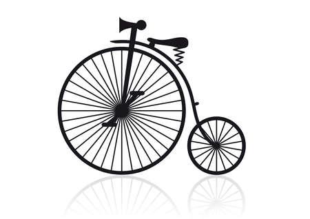 bicicleta vector: Alto rueda de bicicleta Vectores