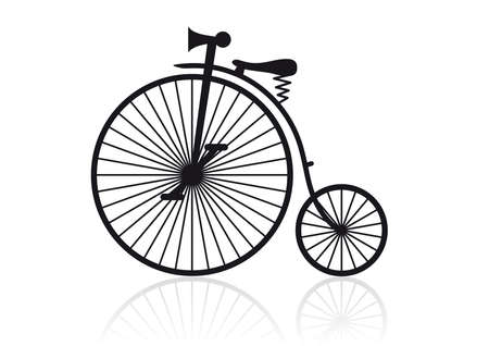 big wheel: High wheel bicycle Illustration