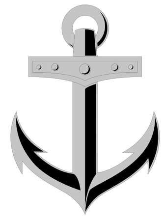 Vector illustration of an anchor