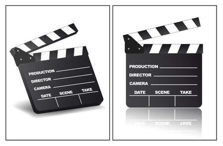 Clapperboard in different view angles