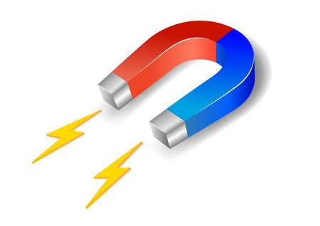 Vector illustratie van een hoefijzer magneet Vector Illustratie