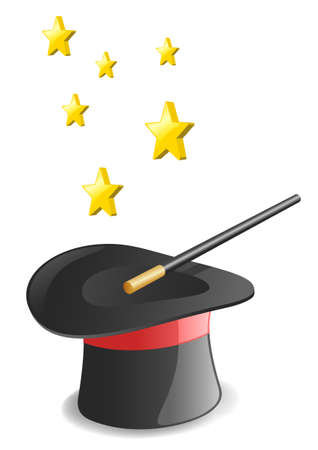 Magic hat. Vector illustration