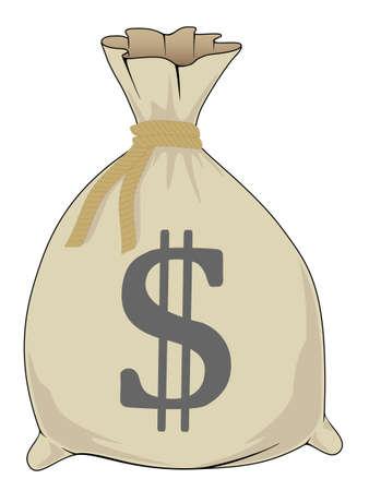 Bolsa de dinero Ilustración de vector