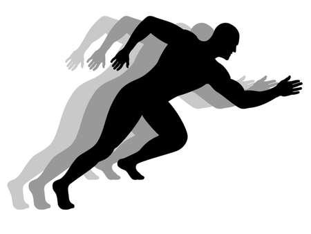 Silueta de un hombre corriendo