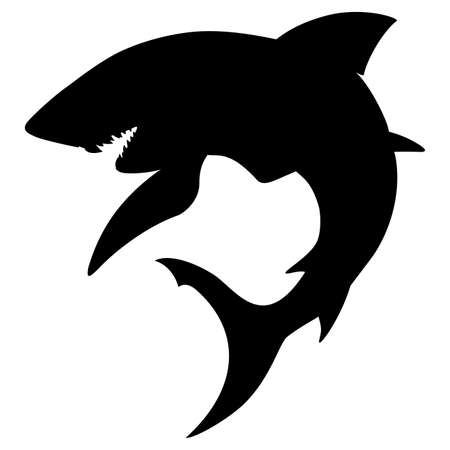 tiburones: Shark silueta