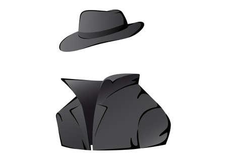 undercover: Illustrazione vettoriale di un agente