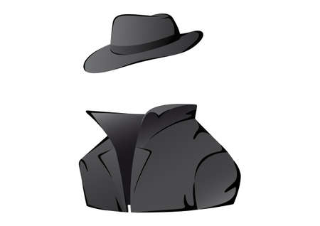 Vector illustration of an undercover agent
