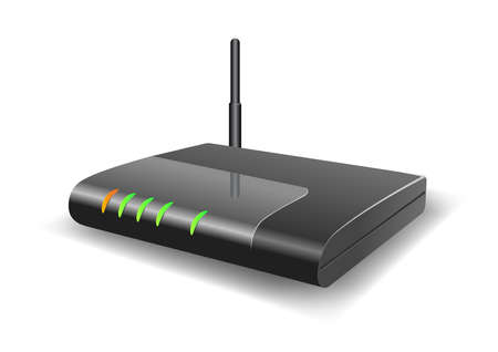 Vector illustration of a Wireless Router
