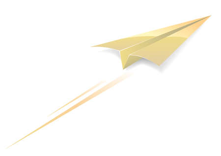 Paper airplane Stock Vector - 3114165