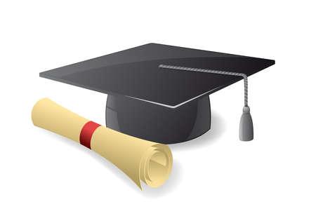 diplom studen: Graduation hustet  Illustration