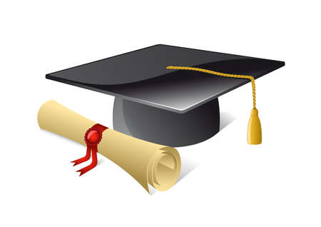 mortar board: Mortar Board Illustration