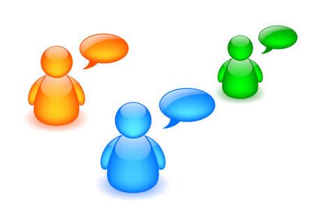 Discussion board icon Illustration
