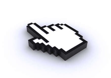 Hand cursor. 3D generated image Stock Photo - 3659298
