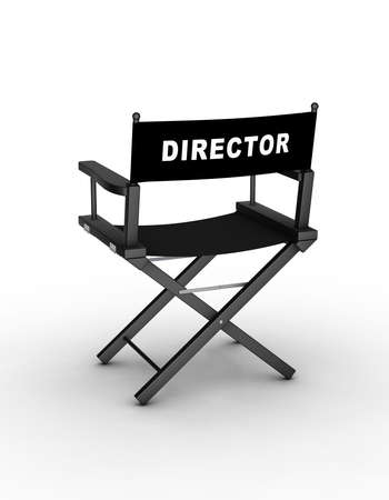 Director�s chair. 3D generated image. Find similar files in my portfolio.