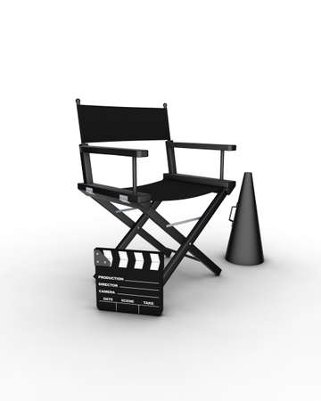 Director�s chair. 3D generated image. Find similar files in my portfolio Stock Photo