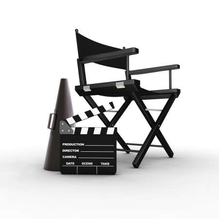Directors chair. 3D generated image.  Stock Photo