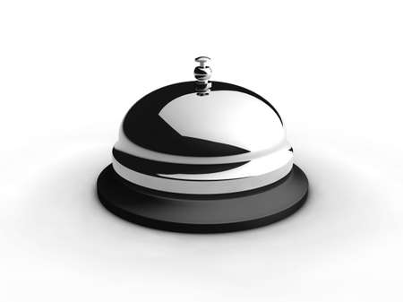 Service bell on white. 3D generated image. Фото со стока