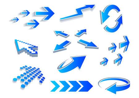 A vector set of useful arrows. Vector