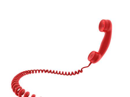 Retro telephone receiver. 3D generated image Stock Photo - 3933793