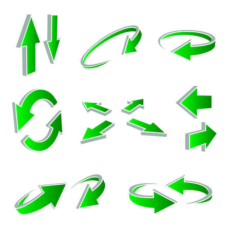 useful: A vector set of useful arrows Illustration