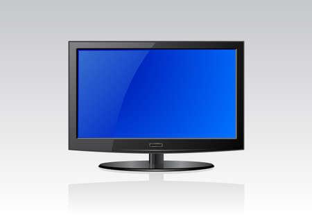"""flat screen"": Vector illustration of a flat screen Illustration"