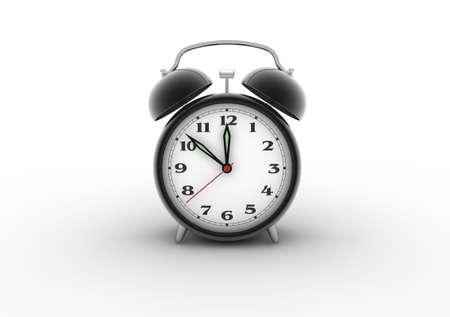 Retro alarm clock. Digitally generated image. photo