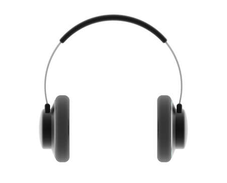 digitally generated: Audio earphone. Digitally generated image.