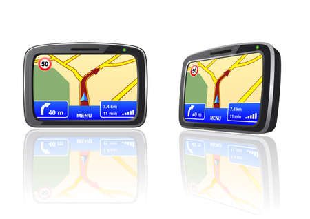 Vector illustration of a GPS device