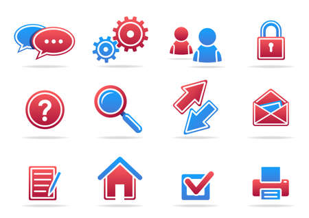A set of internet icons