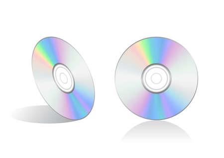 compact disc: Vector illustration of a compact disc