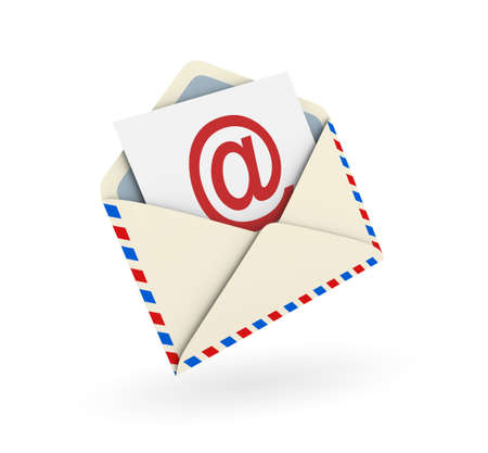 Email envelope on white background. Digitally generated image Stock Photo