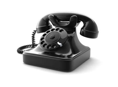 Retro telephone on white background. Computer generated image. Stock Photo