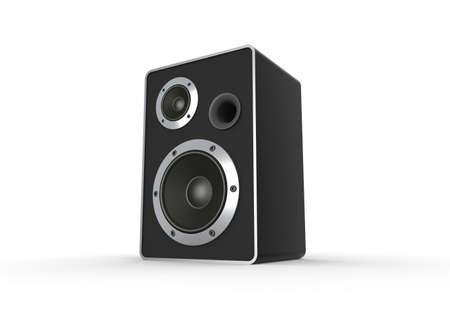 Speaker on white. Computer generated image Stock Photo