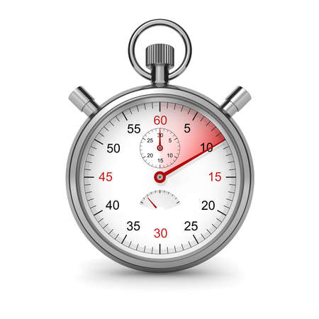seconds: Isolated stopwatch.  Stock Photo
