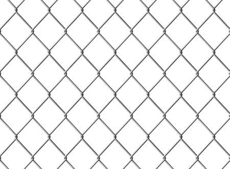 Isolated Chainlink fence. Seamless texture. Computer generated image. Stock Photo