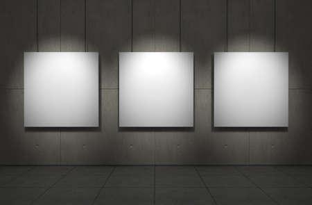 beursvloer: Art gallery. Copmuter gegenereerd beeld