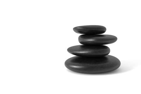 Stack of pebbles in balance. Computer generated image.