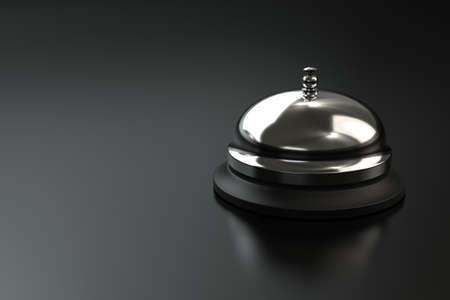 Service bell on dark background with space for copy. Computer generated image. Stock Photo - 8961745
