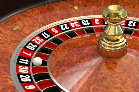 computer generated image: Roulette casin�. Immagini generate al computer. Archivio Fotografico