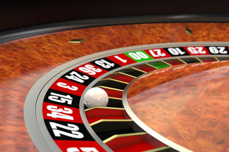 Casino roulette. Computer generated image.