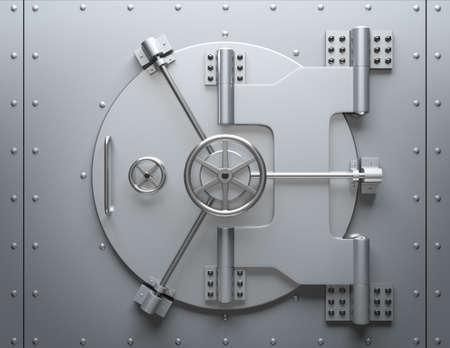 caja fuerte: B�veda de Banco cerrado. Imagen generada por ordenador. Para cuestiones de seguridad.