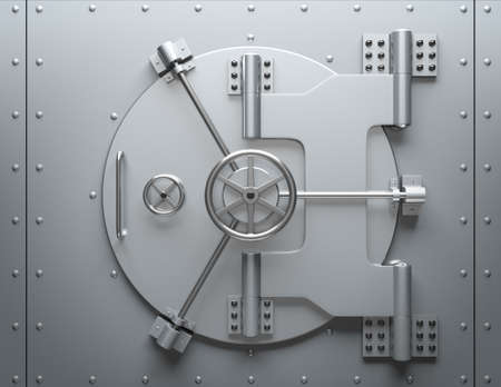 Bank vault closed. Computer generated image. For security issues. Stock Photo - 9657187