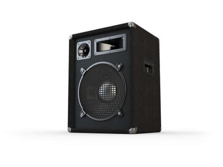 Concert speaker on white background  Computer generated image