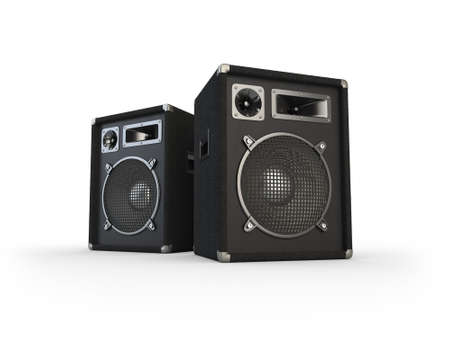 Concert speakers on white background  Computer generated image  Stock Photo