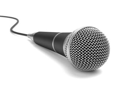 Microphone on white background. Computer generated image. photo