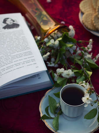 faience: Still life with old tea set