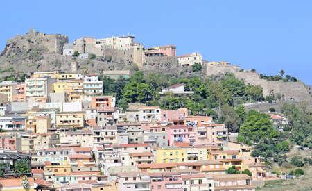 landscpae of Castelsardo on a bright sunny day