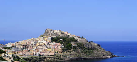 panoramic view of Castelsardo on a clear day