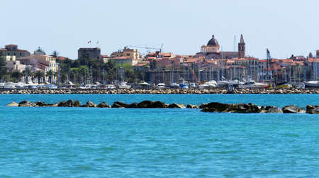 Alghero seen from the beach photo